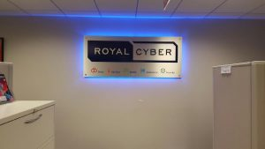 Royal Cyber - Indoor Backlit Lobby Sign
